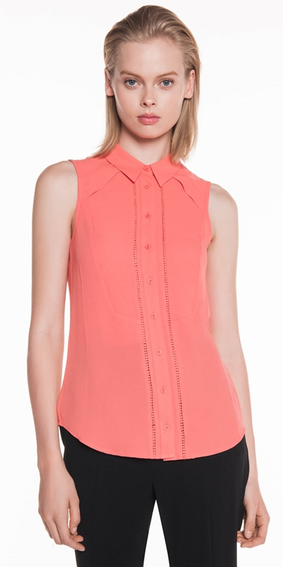 Dresses  | Coral Lace Detail Shirt