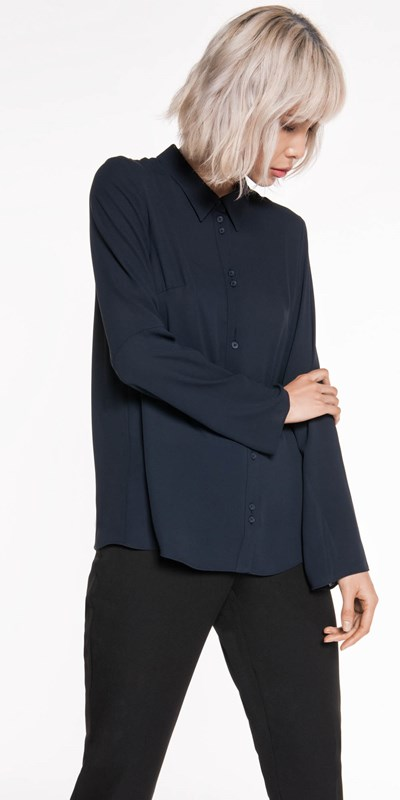 Tops  | Georgette Relaxed Shirt