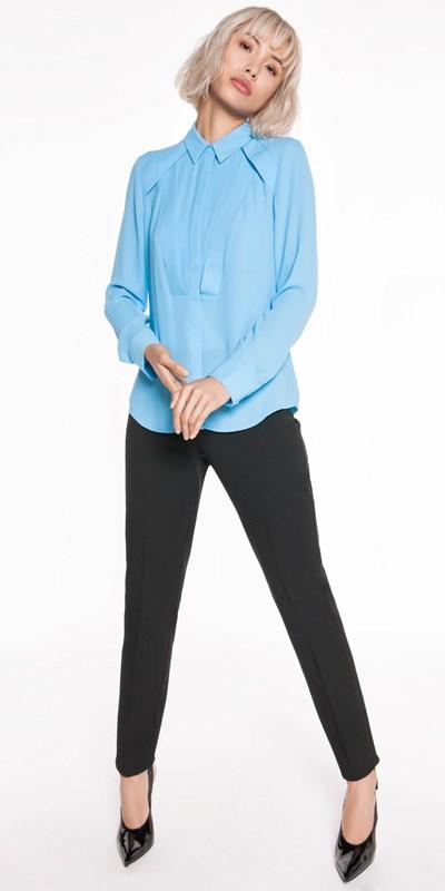 Wear to Work | Georgette Yoke Panel Shirt