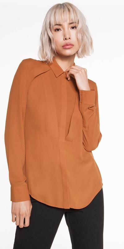 Tops  | Georgette Yoke Panel Shirt