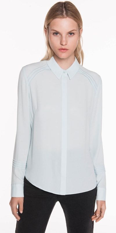 Tops  | Georgette Pintuck Shirt