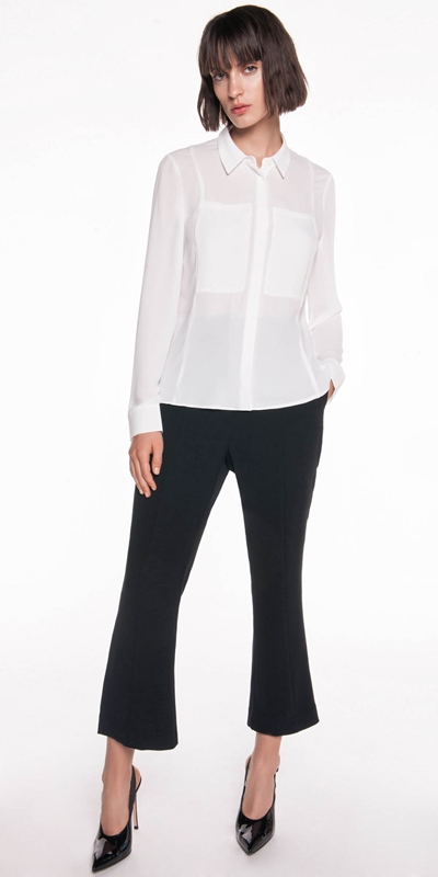 Shirts | Georgette Pocket Detail Shirt