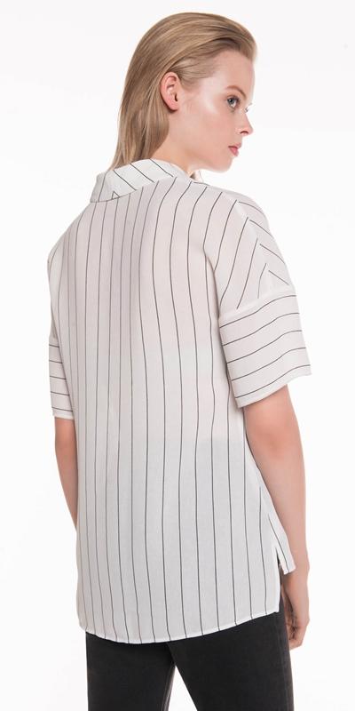 Shirts | Relaxed Textured Stripe Shirt