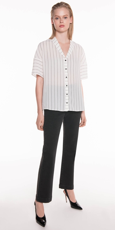Sale  | Relaxed Textured Stripe Shirt