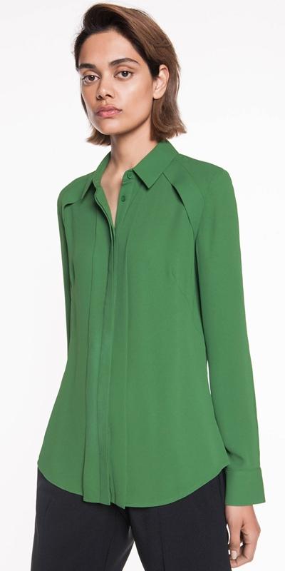 Wear to Work  | Georgette Yoke Detail Shirt