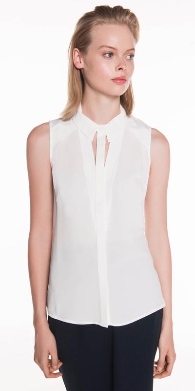 Wear to Work  | Sleeveless Crepe Shirt