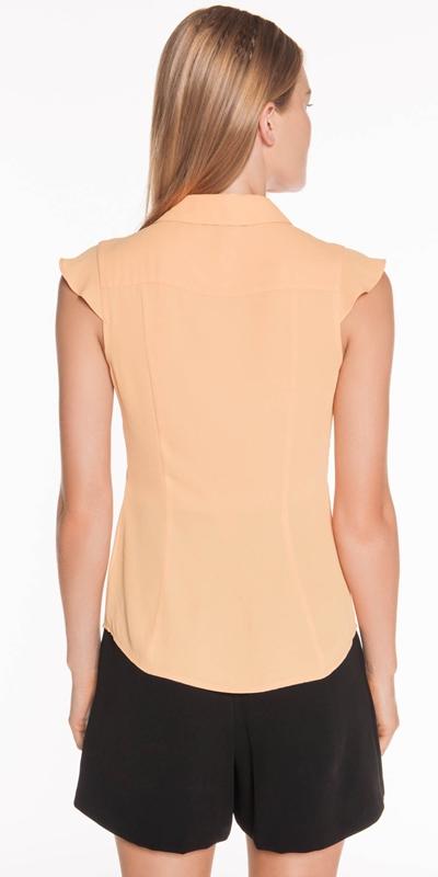Shirts   Georgette Layer Panel Shirt