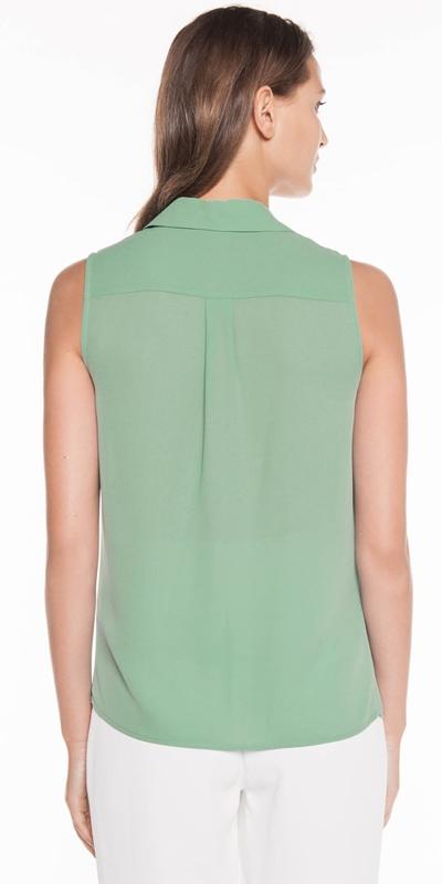 Shirts | Georgette Layered Yoke Shirt