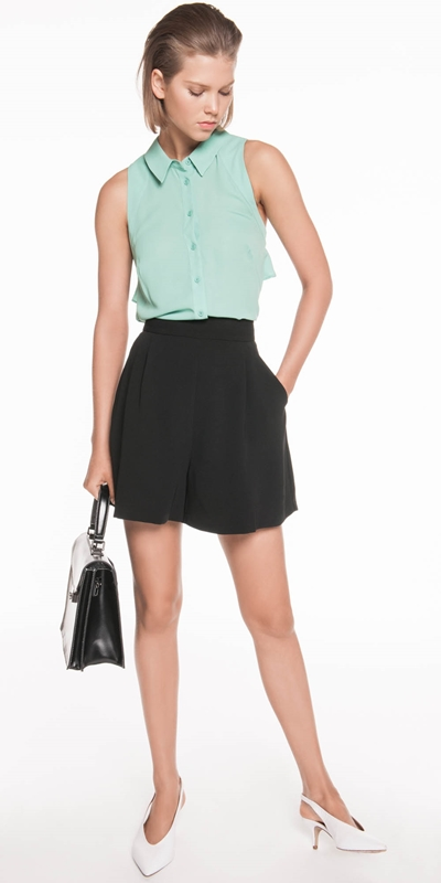 Shirts | Georgette Sleeveless Shirt