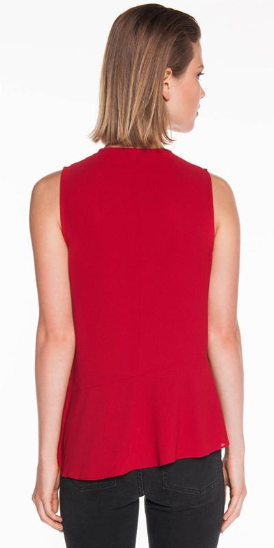 Shirts | Light Crepe Draped Frill Top
