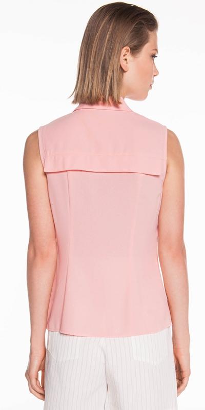 Shirts | Light Crepe Sleeveless Shirt