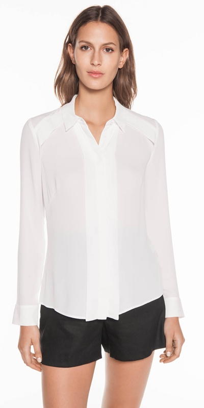 Shirts  | Georgette Yoke Detail Shirt
