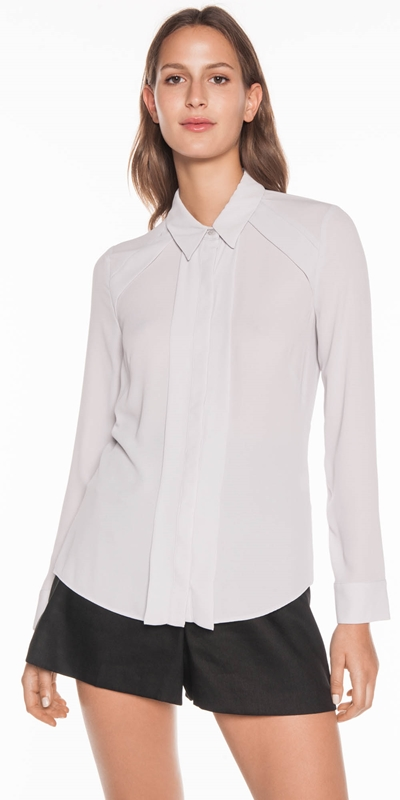 Tops  | Georgette Yoke Detail Shirt