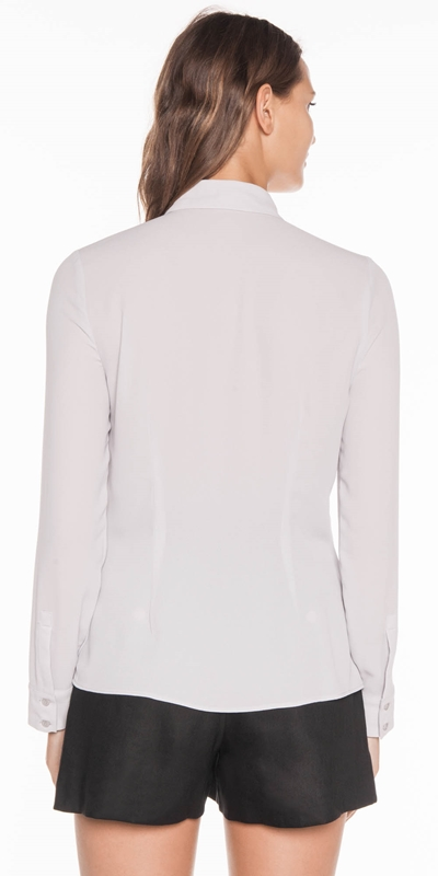 Shirts | Georgette Yoke Detail Shirt