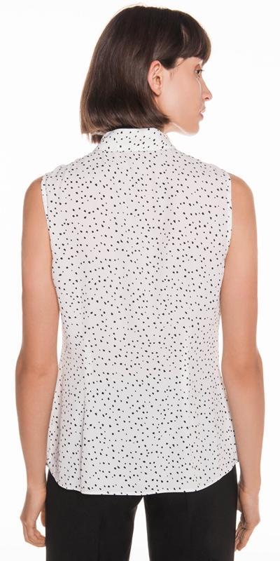 Shirts | Spot Georgette Yoke Detail Shirt
