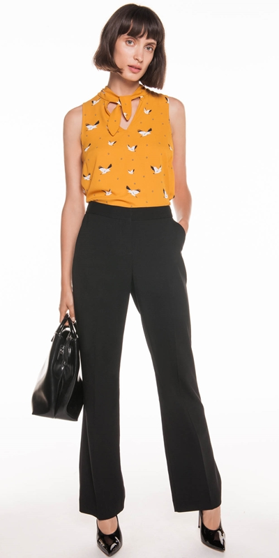 Shirts | Spot Bird Georgette Top