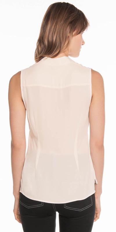 Shirts | Georgette Sleeveless Shirt