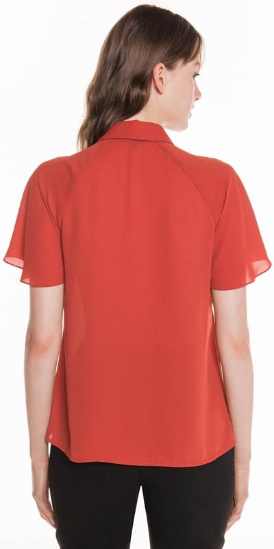 Shirts | Flared Sleeve Gathered Shirt