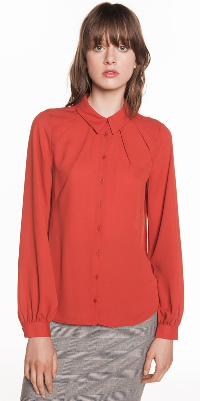 Shirts  | Georgette Yoke Insert Shirt