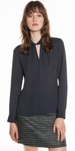 Shirts | Georgette Draped Neck Top
