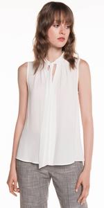Shirts | Georgette Tie Neck Top