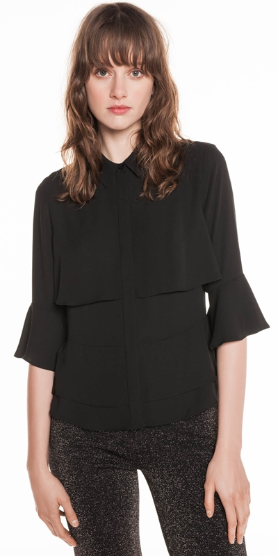Shirts | Georgette Layered Frill Shirt