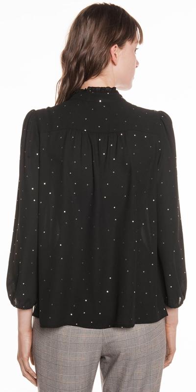 Shirts | Foil Spot Georgette Top