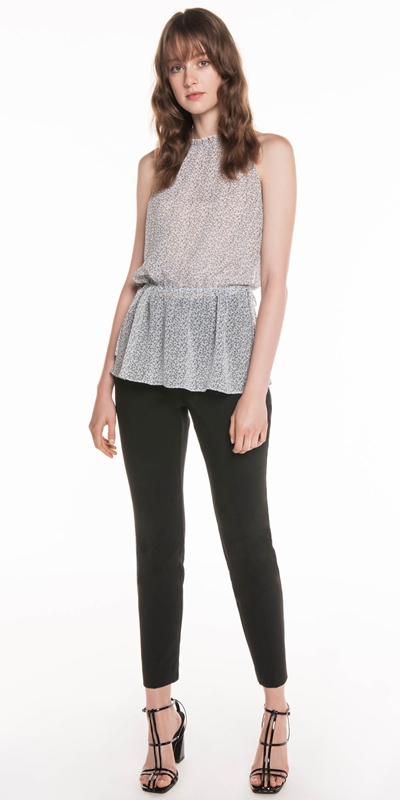 Tops | Ditsy Georgette Gathered Top