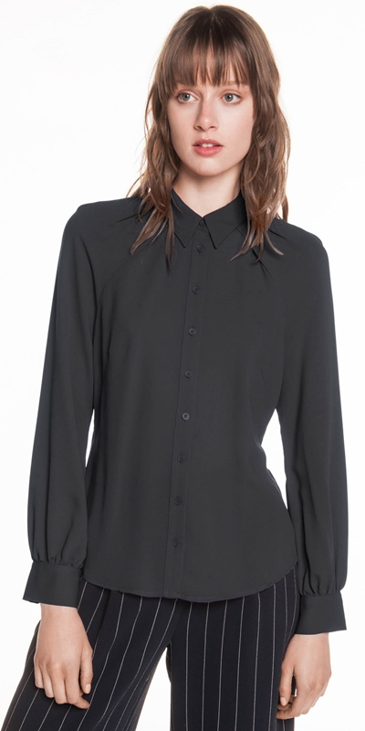 Wear to Work  | Crepe Raglan Sleeve Shirt