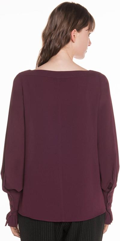 Shirts | Crepe Blouson Sleeve Top