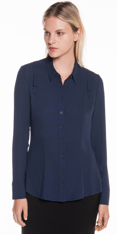 Shirts  | Georgette Long Sleeve Shirt