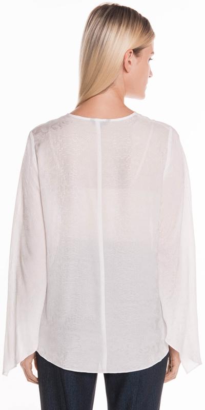 Shirts | Python Draped Cuff Blouse