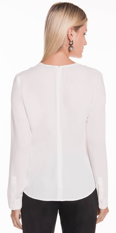 Shirts | Crepe Panelled Top