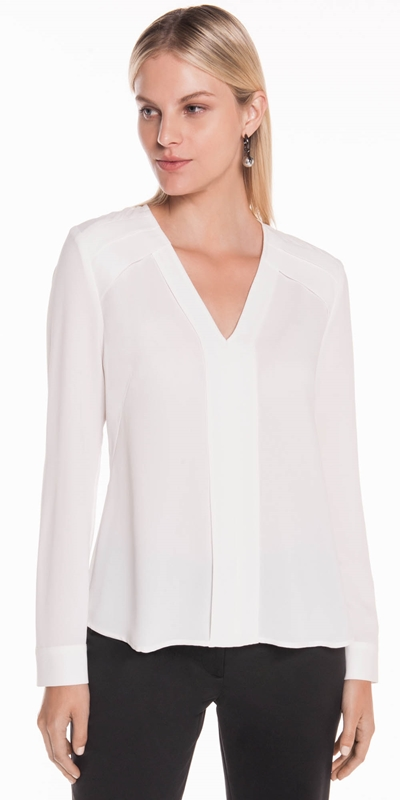 Tops | Crepe Panelled Top