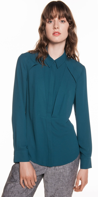 Shirts  | Georgette Panelled Shirt