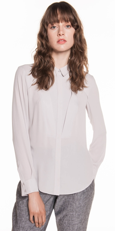 Tops  | Georgette Panelled Shirt