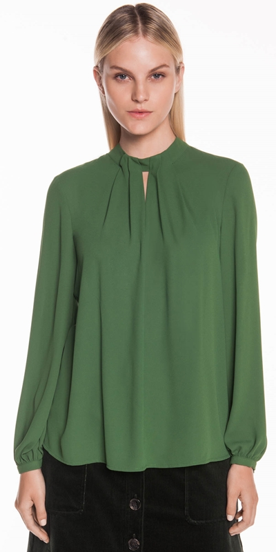 Tops | Draped Neck Blouse
