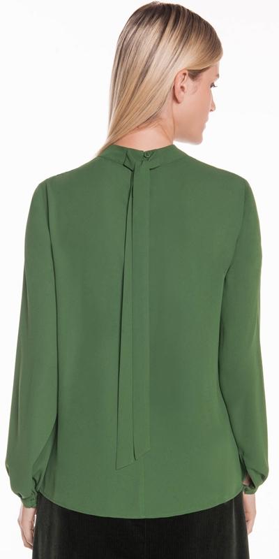 Shirts | Draped Neck Blouse