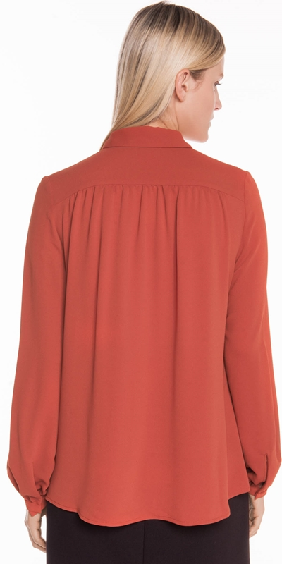 Shirts | Drapey Crepe Keyhole Shirt