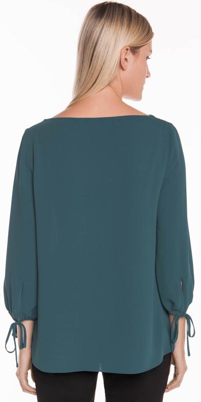 Shirts | Crepe Tie Sleeve Top