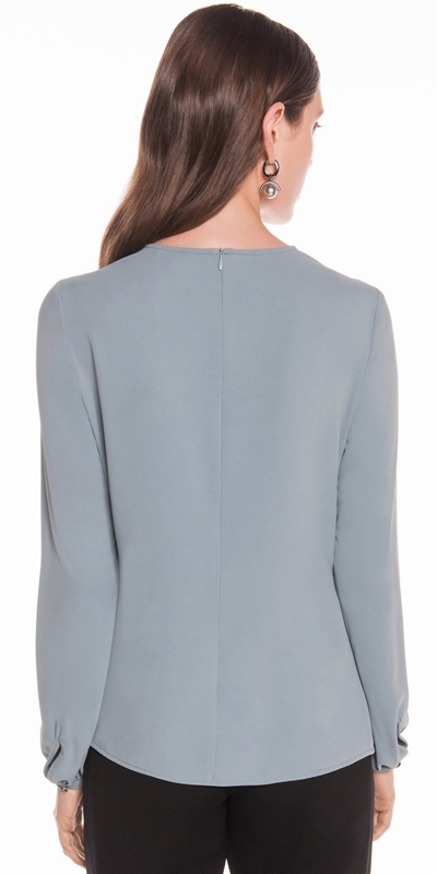 Shirts | Soft Georgette Keyhole Top