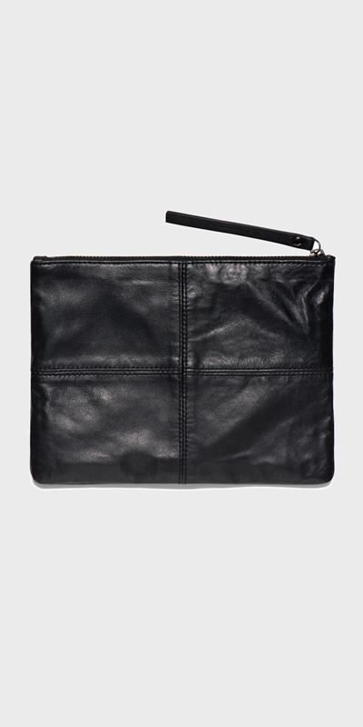 Accessories | Leather Zip Pouch