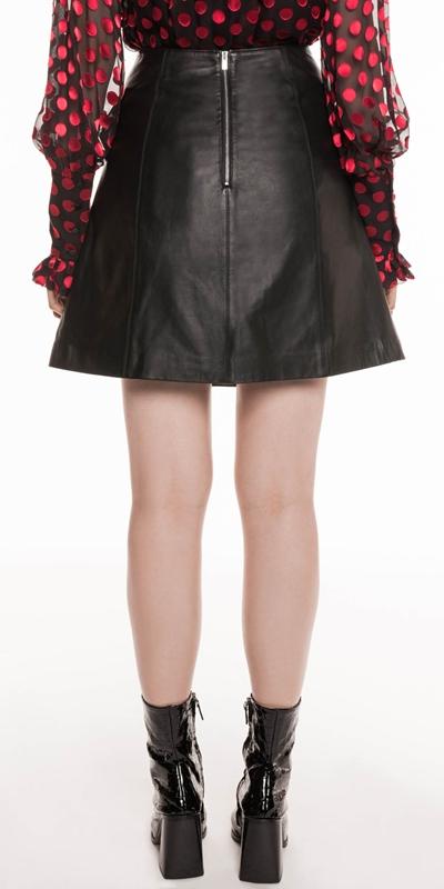 Skirts | Leather A-Line Mini