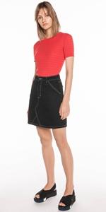 Skirts | Denim Mini Skirt