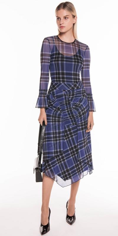 Skirts | Tartan Mesh Handkerchief Hem Skirt