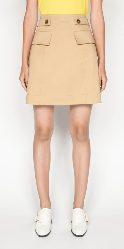 Sale  | Cotton Twill Mini Skirt