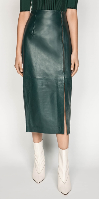 Skirts | Leather Pencil Skirt