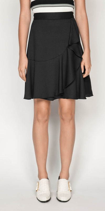 Skirts  | Frilled Hem Wrap Skirt