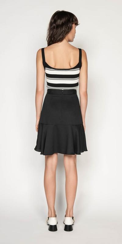 Skirts | Frilled Hem Wrap Skirt