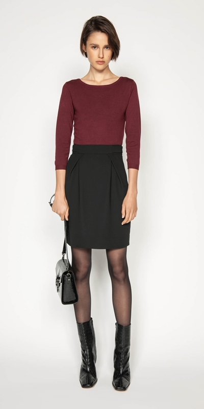 Skirts | Tuck Front Tulip Skirt